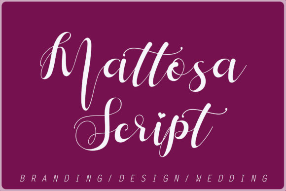 Print on Demand: Mattosa Script Script & Handwritten Font By aldedesign