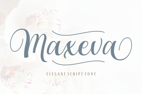 Print on Demand: Maxeva Script & Handwritten Font By Rifki (7ntypes)