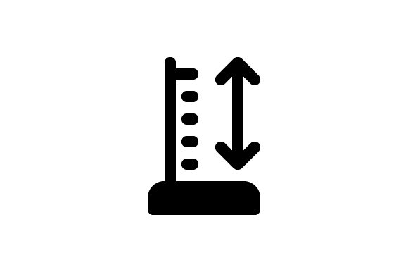 Measure Height Glyph Icon Graphic Icons By Muhazdinata