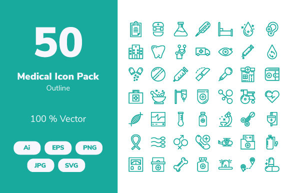 Download Free Medical Outline Icons Graphic By Icon Stale Creative Fabrica for Cricut Explore, Silhouette and other cutting machines.