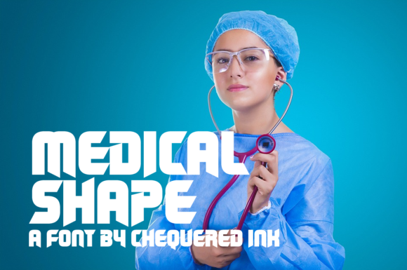 Print on Demand: Medical Shape Display Font By Chequered Ink - Image 1