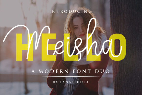 Print on Demand: Meisha Duo Script & Handwritten Font By fanastudio
