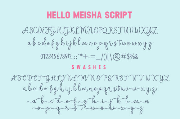 Print on Demand: Meisha Duo Script & Handwritten Font By fanastudio - Image 9