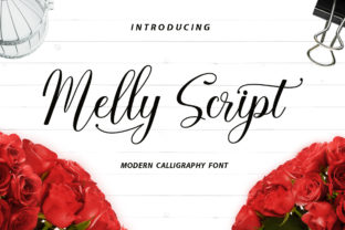 Print on Demand: Melly Script Script & Handwritten Font By LetterFreshStudio
