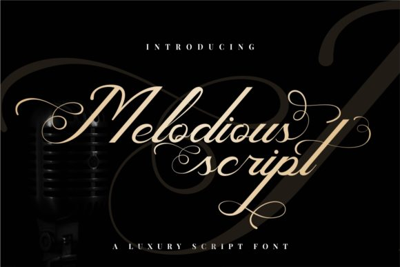 Print on Demand: Melodious Script Script & Handwritten Font By putracetol