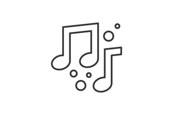 Download Free Melody Icon Graphic By Rudezstudio Creative Fabrica for Cricut Explore, Silhouette and other cutting machines.