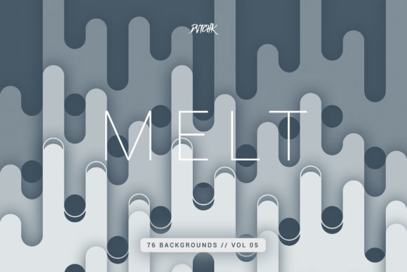 Melt | Abstract Rounded Backgrounds Graphic Backgrounds By dvtchk