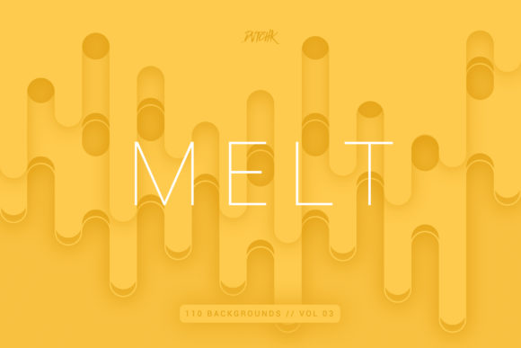 Melt | Abstract Rounded Backgrounds Graphic By dvtchk