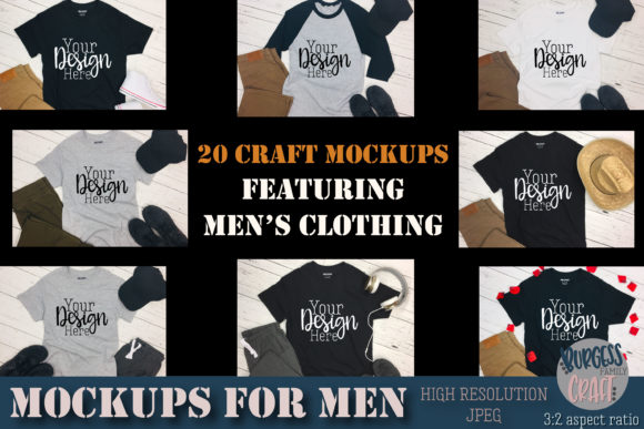 Men's Clothing Craft Mock Up Bundle Graphic Product Mockups By burgessfamilydesign