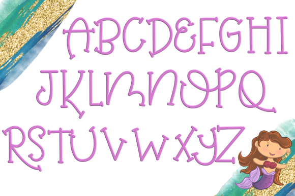 Print on Demand: Mermaid Magic Serif Font By SugarBearStudio - Image 2