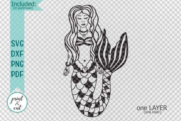 Download Free Mermaid Graphic By Cornelia Creative Fabrica for Cricut Explore, Silhouette and other cutting machines.