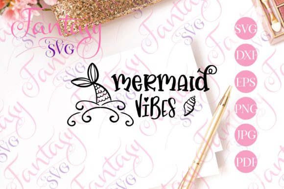 Print on Demand: Mermiad Vibes Svg Graphic Crafts By Fantasy SVG
