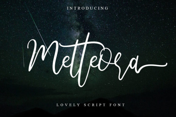 Print on Demand: Metteora Script Script & Handwritten Font By Haksen
