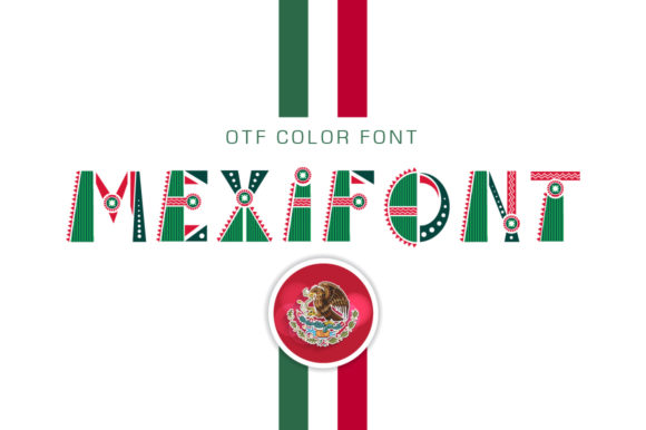 Print on Demand: Mexifont Color Fonts Font By Peliken