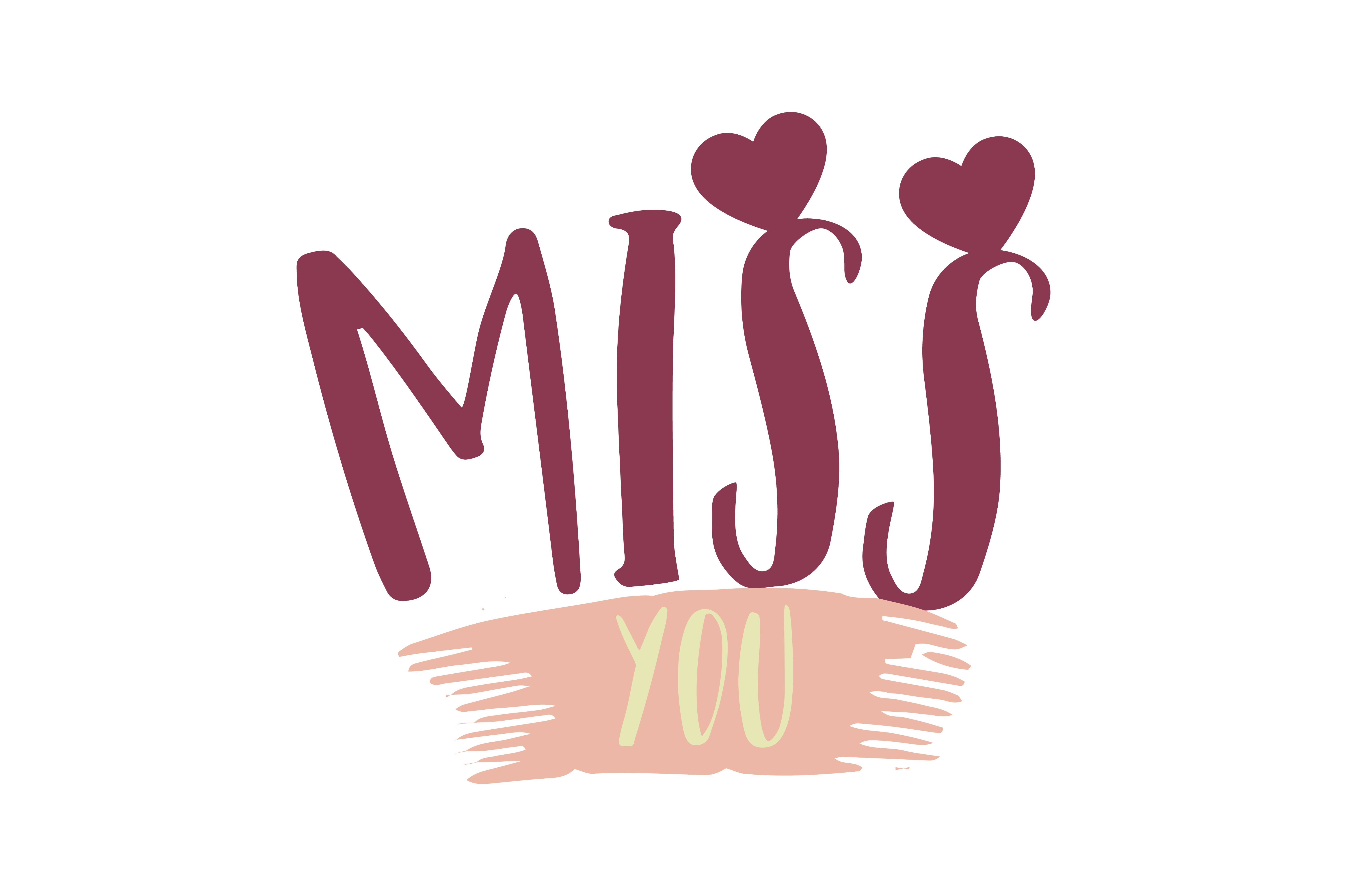 Download Free Miss You Quote Svg Cut Graphic By Thelucky Creative Fabrica for Cricut Explore, Silhouette and other cutting machines.