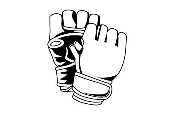 Download Free Mixed Martial Arts Pair Of Gloves Svg Cut File By Creative for Cricut Explore, Silhouette and other cutting machines.