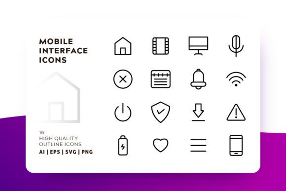 Mobile Interface Icon Pack Graphic Icons By Goodware.Std - Image 1