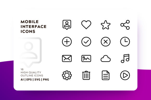Mobile Interface Icon Pack Graphic Icons By Goodware.Std