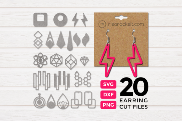 Modern Earrings SVG Bundle Graphic By RisaRocksIt