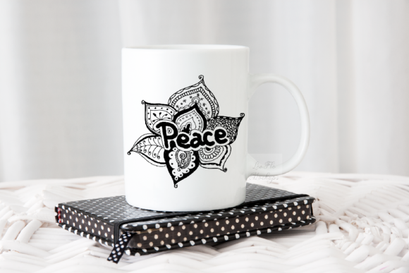 Download Free Modern Feminine Coffee White Mug Mockup Graphic By Leo Flo for Cricut Explore, Silhouette and other cutting machines.