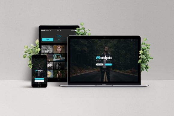 Modpic Creative App Page Sketch Template Graphic By Webhance