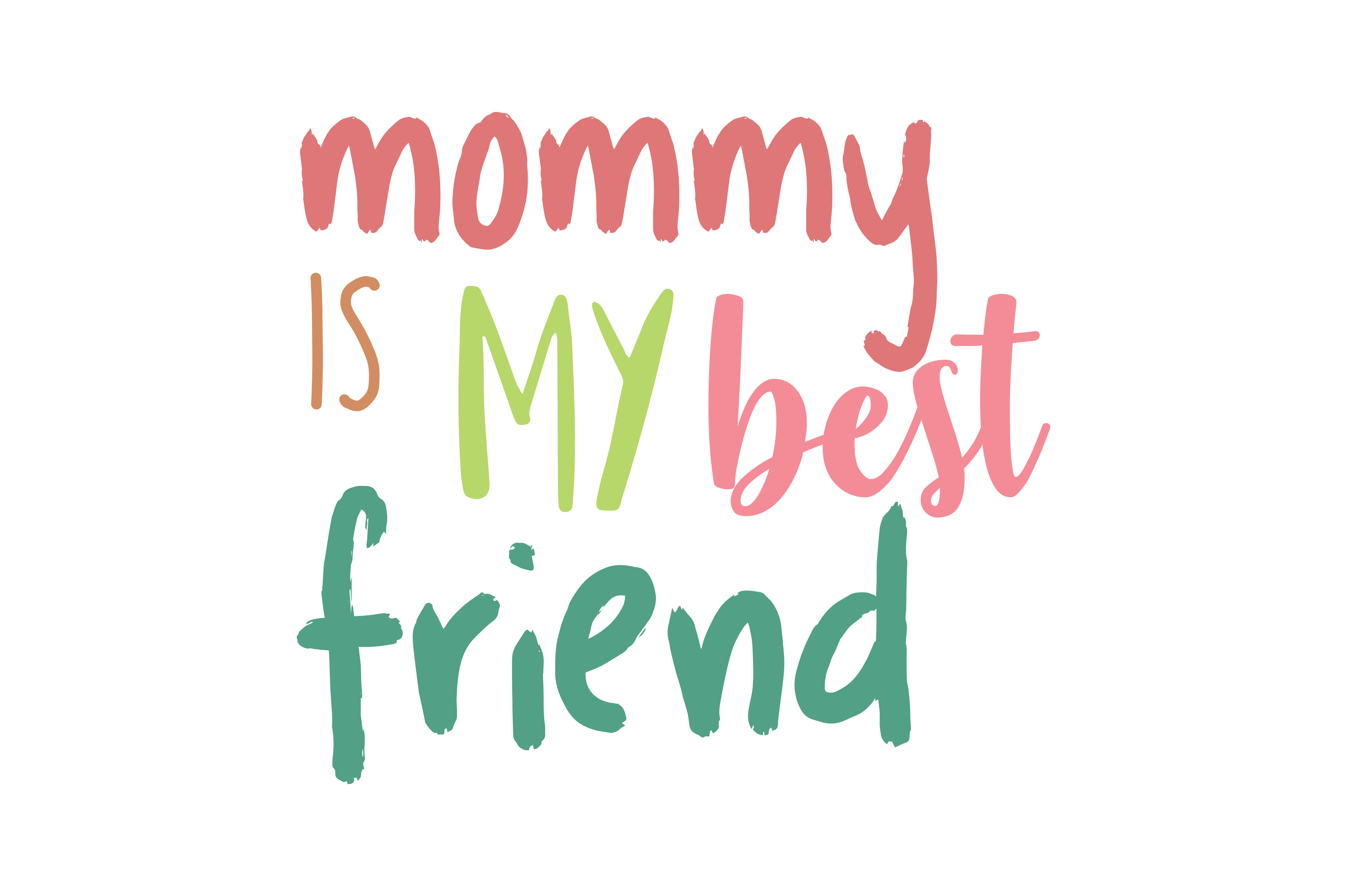 Download Free Mommy Is My Best Friend Quote Svg Cut Graphic By Thelucky for Cricut Explore, Silhouette and other cutting machines.