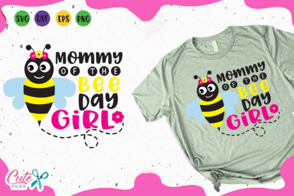 Download Free Mommy Of The Bee Day Svg Graphic By Cute Files Creative Fabrica for Cricut Explore, Silhouette and other cutting machines.