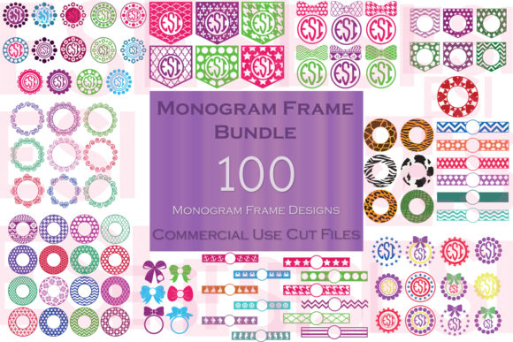 Monogram Frame Bundle Graphic Crafts By ESI Designs