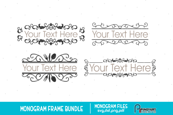 Monogram Frame Svg Bundle Graphic Crafts By Pinoyartkreatib