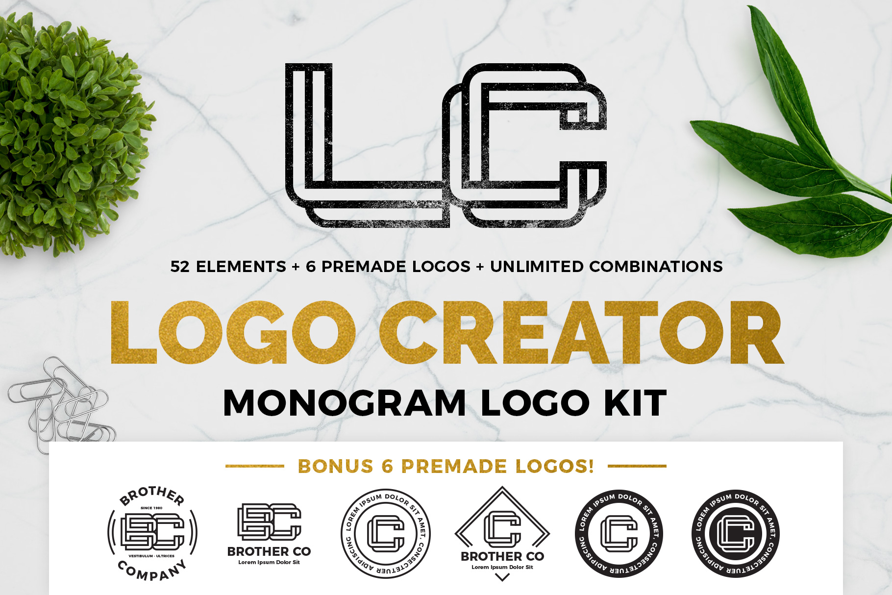 Download Free Monogram Logo Creator Graphic By Typoerba Creative Fabrica for Cricut Explore, Silhouette and other cutting machines.