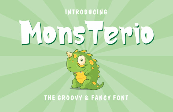 Print on Demand: MonsTerio Display Font By fachranheit
