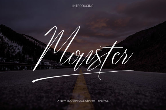 Print on Demand: Monster Script Script & Handwritten Font By Danti