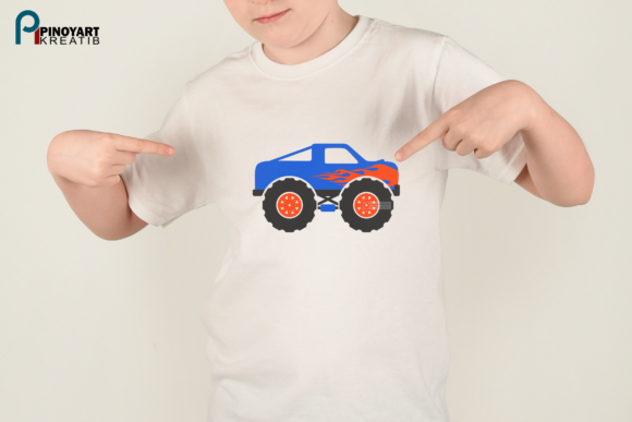 Download Free Monster Truck Graphic By Pinoyartkreatib Creative Fabrica for Cricut Explore, Silhouette and other cutting machines.