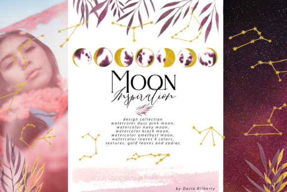 Moon Inspiration Graphic Illustrations By BilberryCreate
