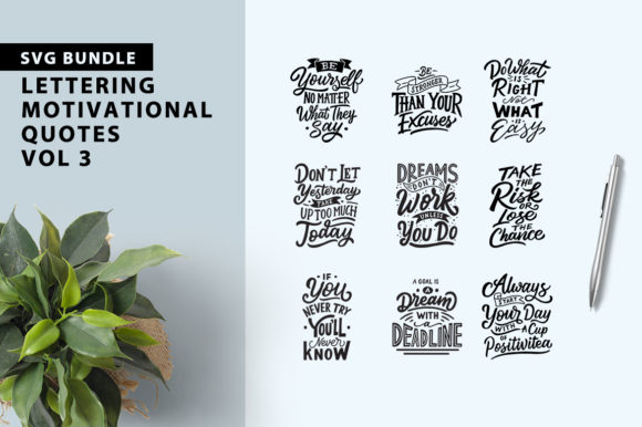 Motivational Quotes Bundle Graphic By Weape Design Image 1