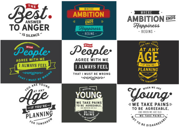 Print on Demand: Motivational Quotes Bundle Graphic Crafts By baraeiji