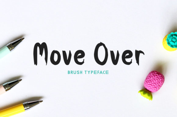 Print on Demand: Move over Display Font By Spanking Fonts