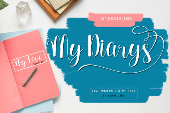 Print on Demand: My Diarys Script & Handwritten Font By Natural Ink