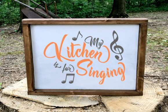 My Kitchen is for Singing Graphic By summersSVG
