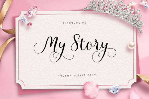 Print on Demand: My Story Script Script & Handwritten Font By Posts Type