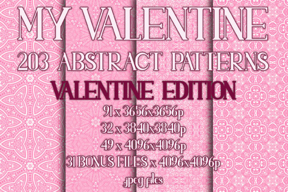 My Valentine Graphic Patterns By vessto