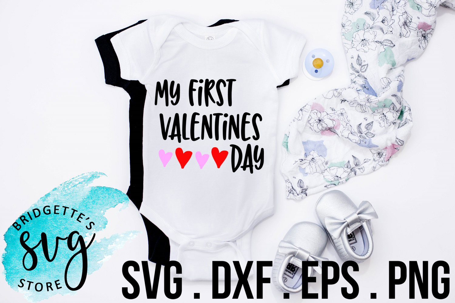 Download Free My First Valentines Day Svg File Graphic By Luxmauve Creative for Cricut Explore, Silhouette and other cutting machines.