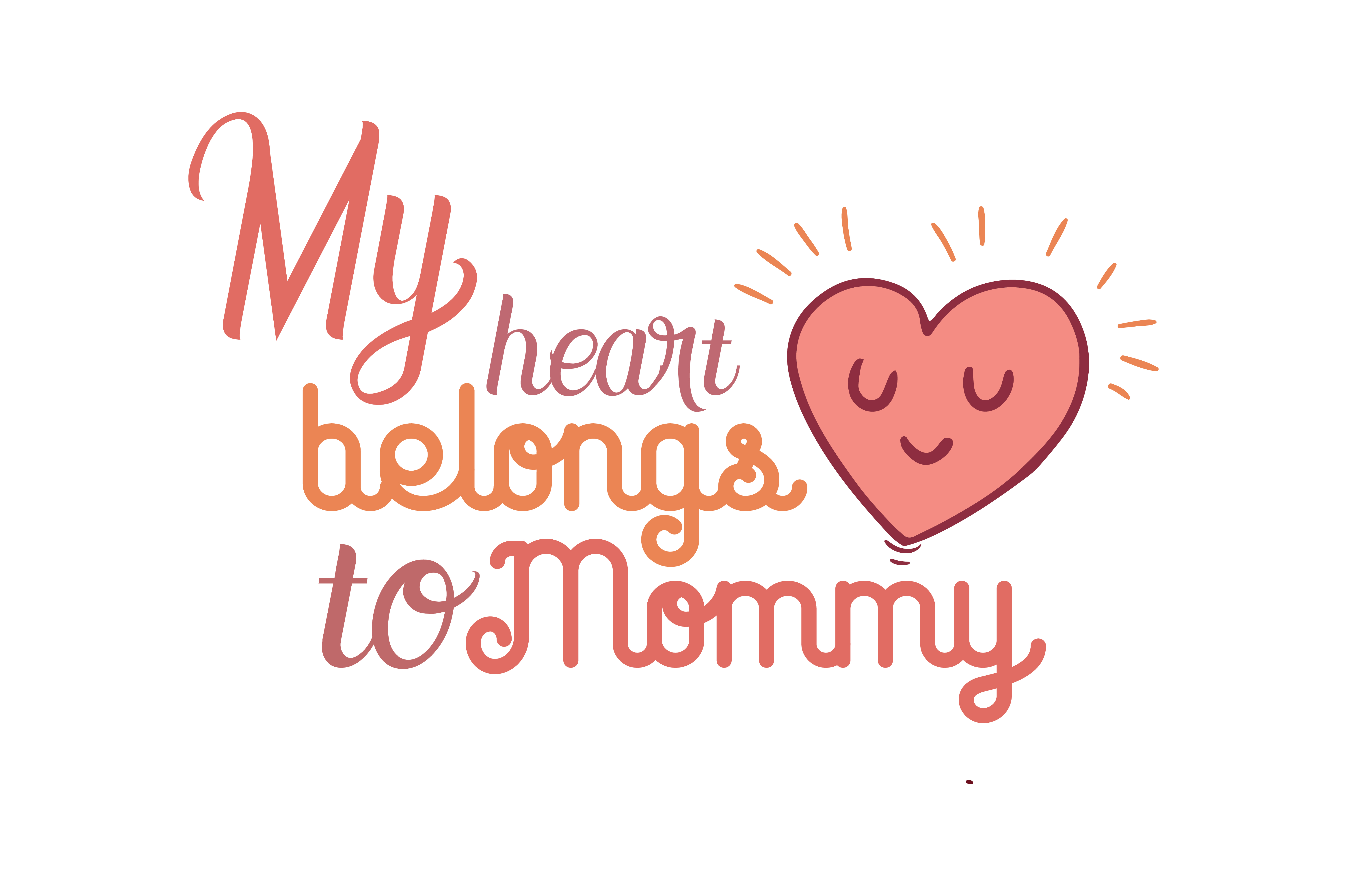 Download Free My Heart Belongs To Momy Quote Svg Cut Graphic By Thelucky Creative Fabrica for Cricut Explore, Silhouette and other cutting machines.