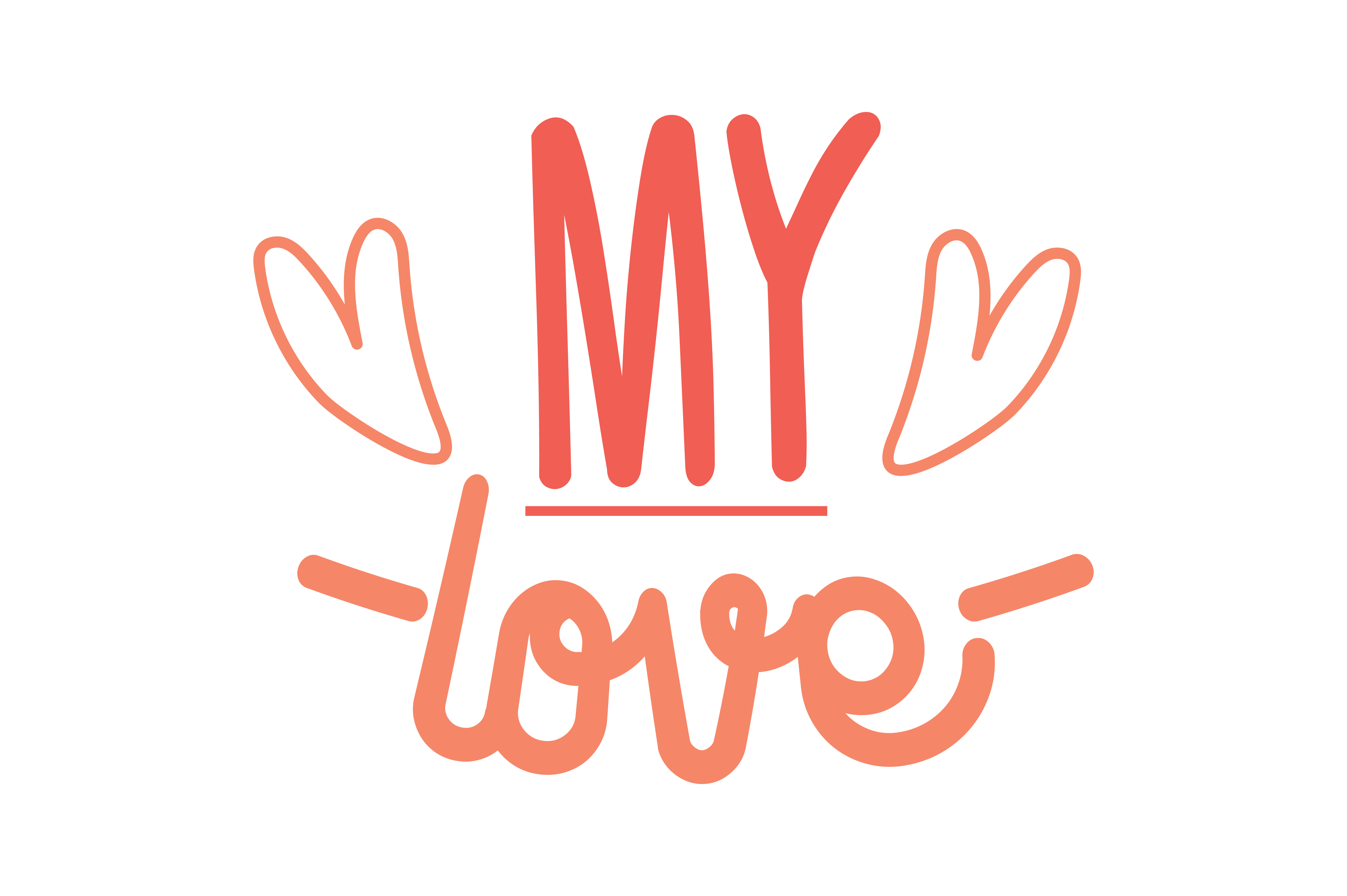 Download Free My Love Quote Svg Cut Graphic By Thelucky Creative Fabrica for Cricut Explore, Silhouette and other cutting machines.