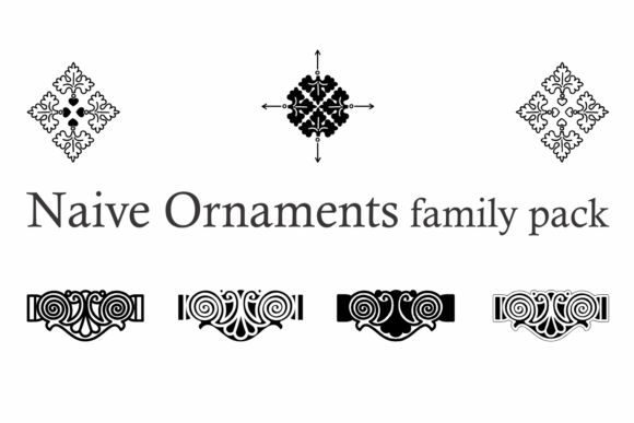 Naive Ornaments Family Font By Intellecta Design Image 4