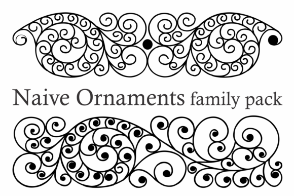 Print on Demand: Naive Ornaments Family Dingbats Font By Intellecta Design