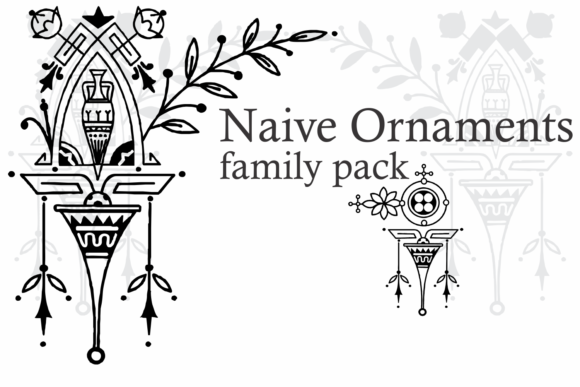 Naive Ornaments Family Font By Intellecta Design Image 9