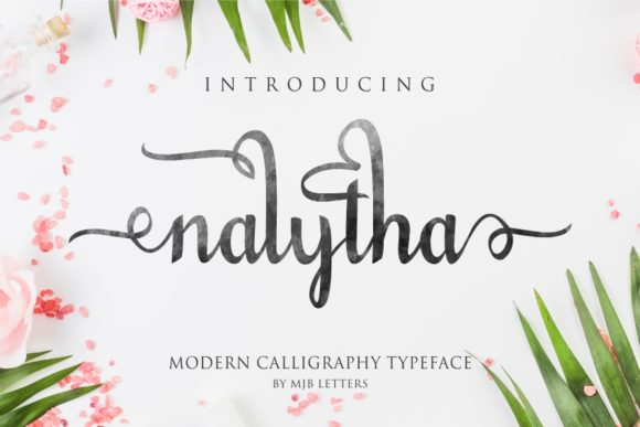 Print on Demand: Nalytha Script Script & Handwritten Font By MJB Letters