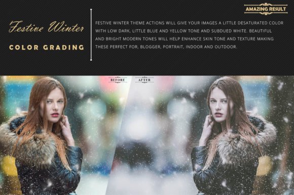 Download Free Neo Festive Winter Story Color Grading Photoshop Actions Graphic for Cricut Explore, Silhouette and other cutting machines.