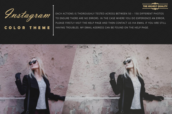 Print on Demand: Neo Instagram Color Grading Photoshop Actions Graphic Actions & Presets By 3Motional - Image 6